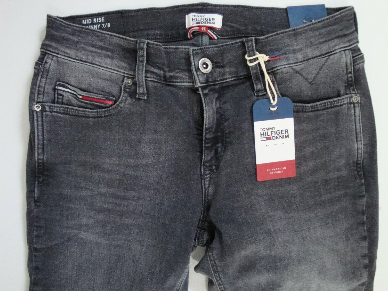 TOMMY HILFIGER  Jeans  MID RISE SKINNY 7 8  NORA  Grau  W26 W30 W31 W32 W33  Neu