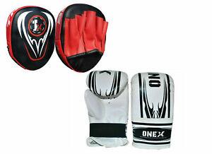 1X-Exercise-Strike-Punching-Pad-Fitness-Sparring-Kids-Training-Boxing-Gloves-Set