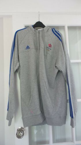 Adidas Mens Olympics Team GB Hoodie GreyBlue Size XL Brand New RRP 54.95
