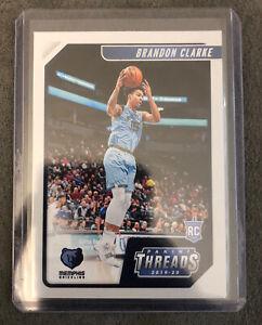 2019-20-Panini-Chronicles-Basketball-Threads-Brandon-Clarke-RC-97-Grizzlies