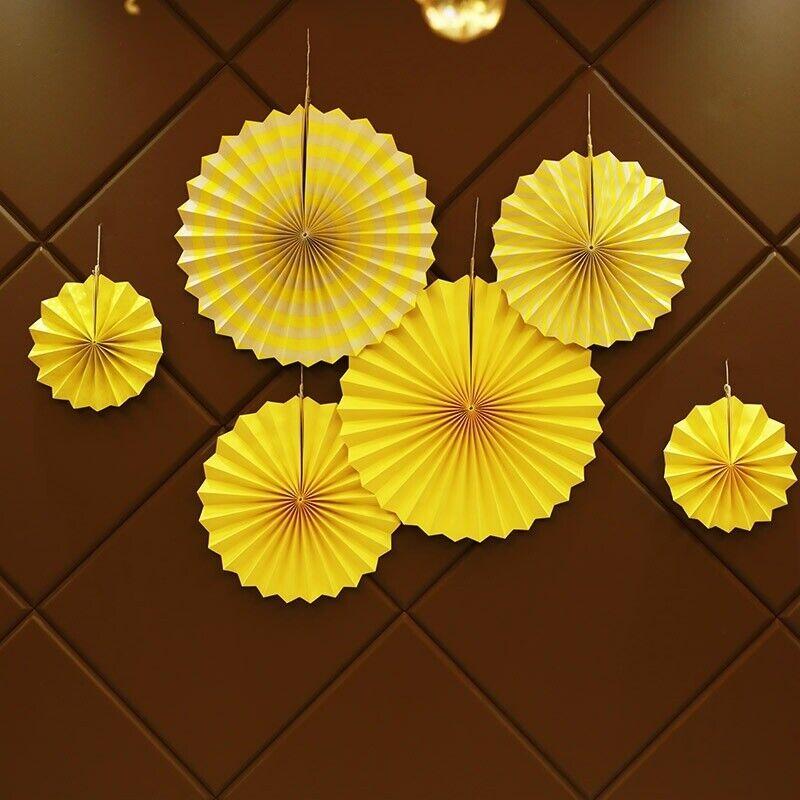 6pcs//set Paper Fan Flower Wedding Birthday Party Garland Bedroom Decoration