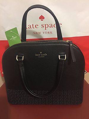 NWT Kate Spade Wakefield Lane Carli Satchel Crossbody Leather Bag Black WKRU4434
