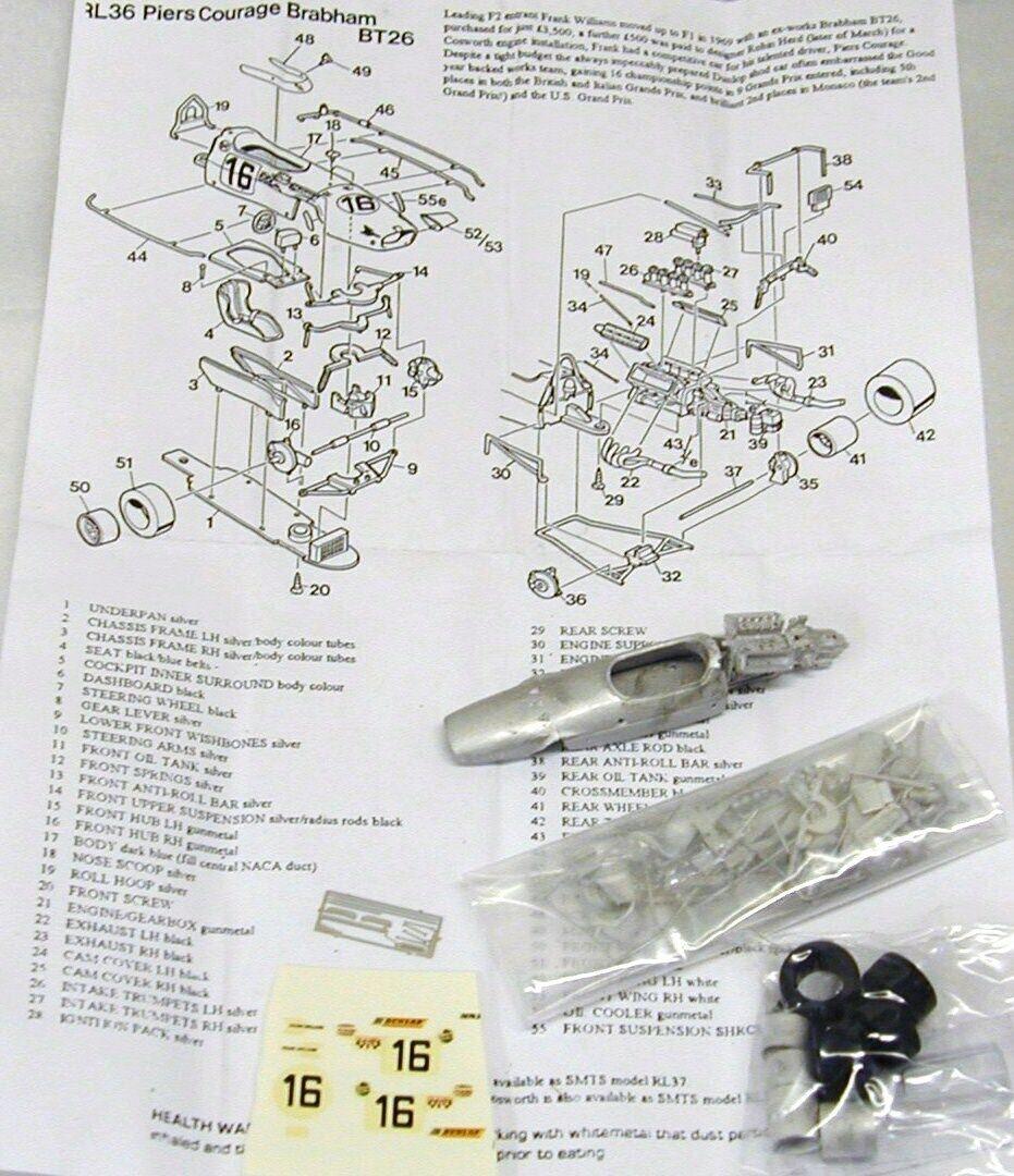 Tu satisfacción es nuestro objetivo 1 43 RL36K RL36K RL36K Brabham BT26 Cosworth Muelles coraje Kit por SMTS  orden ahora con gran descuento y entrega gratuita