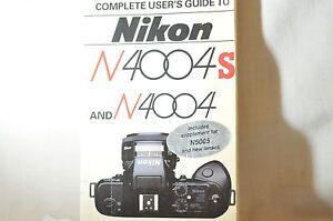 hove fountain books nikon n4004 4004s f 401 in europe n5005 film rh ebay com Nikon N4004 Cameras Manuals Nikon 35Mm Film Camera
