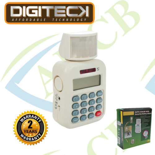 Auto-Dialer with Security//Safety Alarm Up to 5 numbers Alarm//Chime//Siren 105dB