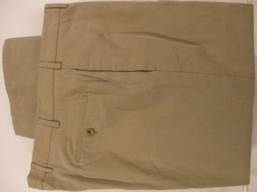 Incotex IncoChino Mens Khaki Flat Front Pants 36x2