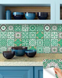 Tile Stickers Set Of 24 Backsplash Kitchen Decor Ideas Bathroom Decals Diy B18 Ebay