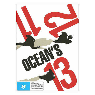 Ocean's Trilogy  11 12 13 DVD Brand New - George Clooney, Matt Damon, Brad Pitt