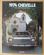 CHEVROLET Chevelle 1974 USA Mkt brochure catalog - Malibu Classic Laguna S-3