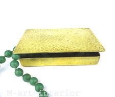 Art Déco Schmuck Zigaretten Messing Schatulle Dose Jewelry Box Case Bauhaus 20er