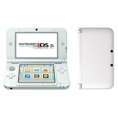 Nintendo 3DS XL - White Handheld System Very Good Condition