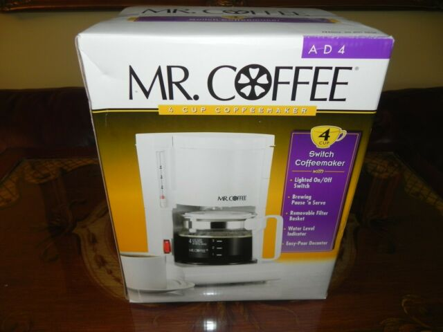 Mr. Coffee A D 4 Cup Coffee Maker - White