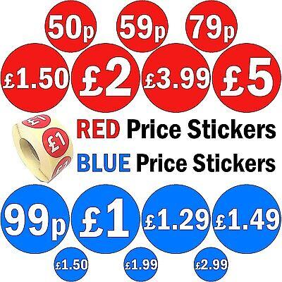 200 20mm /£13 /£ Bright Blue Price Stickers