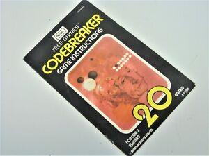 MANUAL-ONLY-ATARI-2600-Sears-Codebreaker-Video-Game-System-Manual