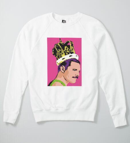 Fred Pop Art Sweat Crown Royal Rock 80s Music Retro Queens Sweatshirt