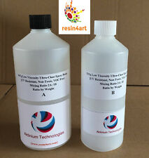 Crystal Clear Epoxy Resin 350g 700g 1.4kg Transparent Low Viscosity UV Resistant