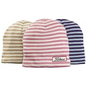 cd61c89a0b Image is loading NEW-Titleist-Womens-Striped-Beanie-Winter-Hat-Cap-