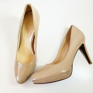 adb78fe1eab COLE HAAN Size 10 Nude CHELSEA PUMPS Sandstone Patent Leather AIR ...