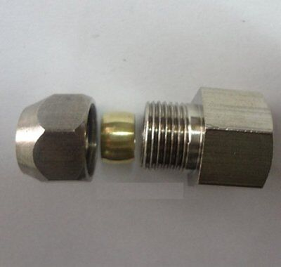 "Compression 5//16/"" or 8mm Tube OD x 1//2/"" NPT Female Pipe Brass Fitting N-L5E9"