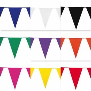10m-COLOUR-BUNTING-FLAGS-PENNANTS-PARTY-DECORATIONS-PARTIES-FLAG-WEDDING-COLOURS