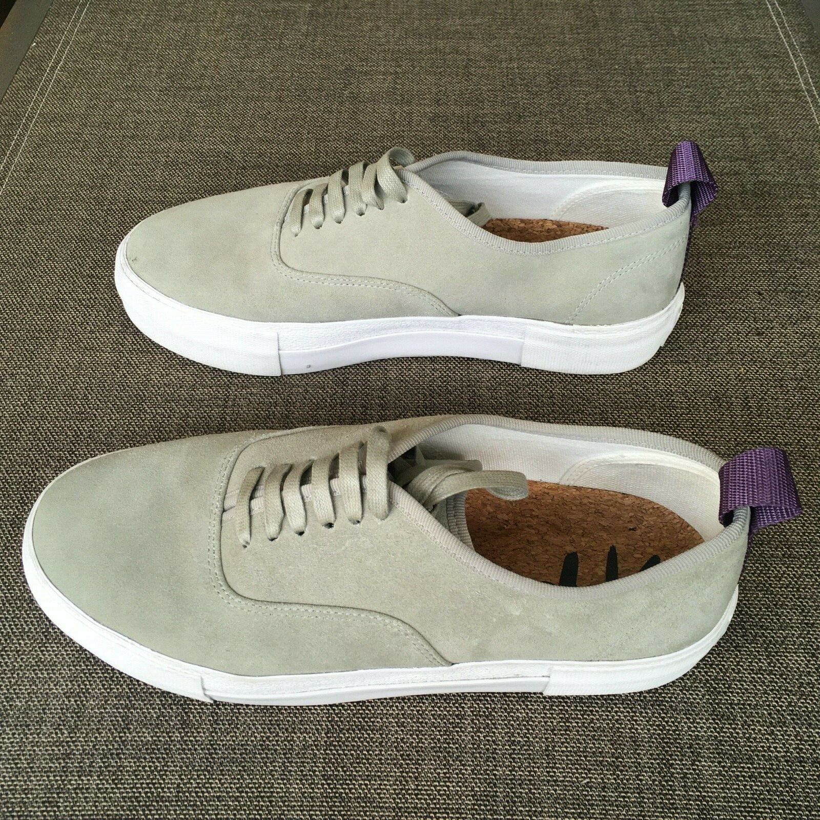 EYtys Mens Suede Skateboard Style Sneakers Gray S… - image 5
