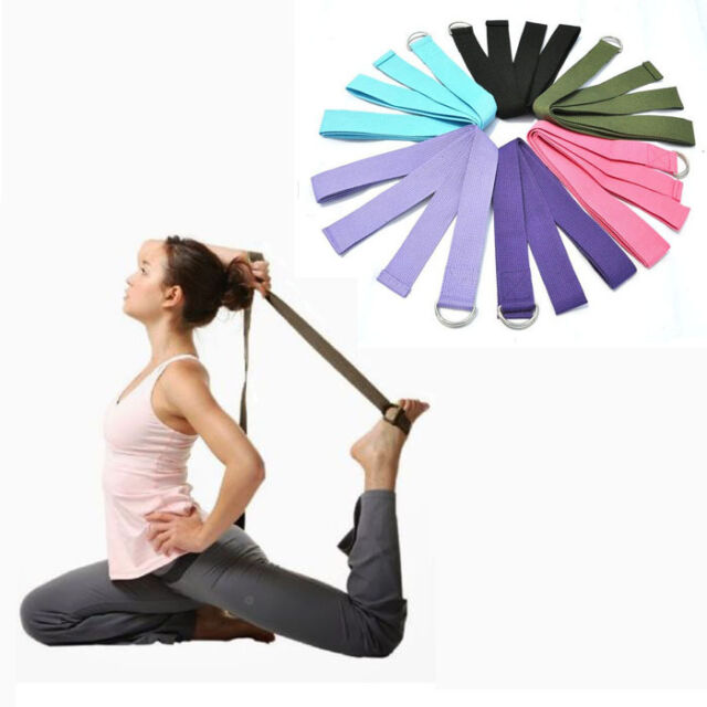 Sport Yoga Stretch Strap D-Ring Belt Gym Waist Leg Fitness 180CM Adjustable Belt