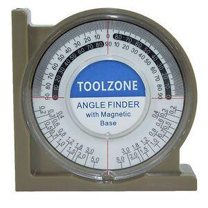 Magnetic-Base-Angle-Finder-Measure-Spirit-Level-Gauge-Roofer-Builders-Plumbers