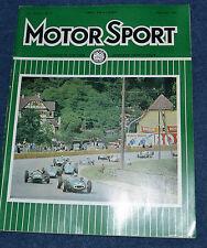 Motor Sport September 1961 German GP Triumph TR4 Pescara, Peugeot 404
