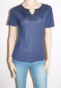 Millers-Brand-Navy-Notch-Neck-Detail-Short-Sleeve-Top-Size-10-BNWT-SZ60