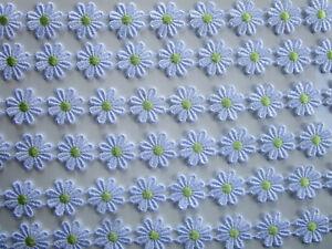 2-METER-GPO-Spitze-Blumen-2-5cm-Weiss-Gruen-breit-Elegante-Nichtelastisch