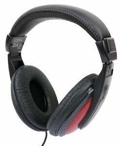 Nero-Rosso-Over-Ear-Cuffie-per-il-Samsung-Chromebook-Pro-Laptop