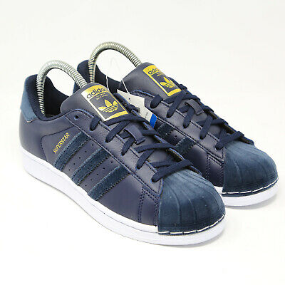 adidas SuperStar Womens Collegiate Navy Blue White Gold AC7212 SHell Toe Velvet | eBay