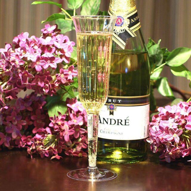 Box of 120 - WEDDING-PLASTIC WINE CHAMPAGNE FLUTES DISPOSABLE GLASSES!
