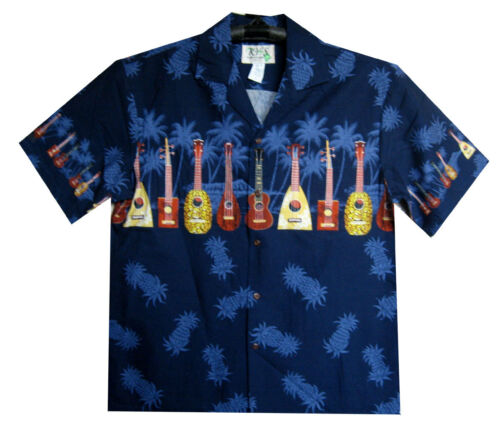 Ukulele Chitarra petto Multi stampa Ky /'S ORIGINALE Camicia Hawaii
