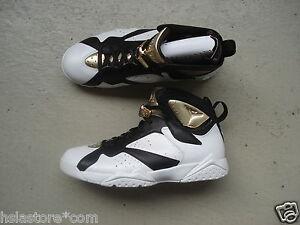 Blanco Nike negro Jordan 44 Air Oro 7 Retro metálico XWOUX6qrZ