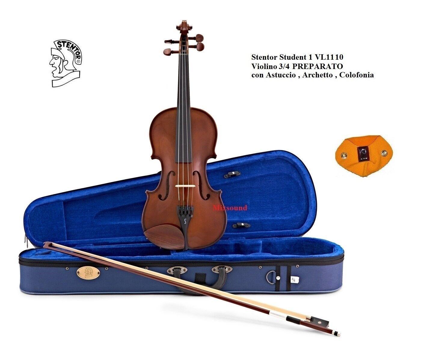 Violino STENTOR Student I misura 3 4 VL1110 PREPARATO CON CUSTODIA ARCO + PECE