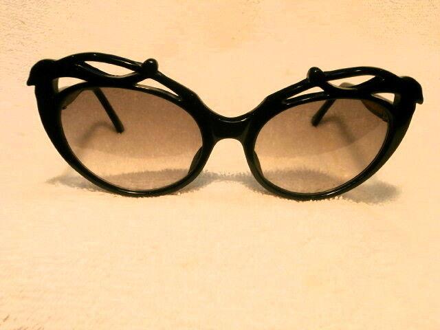"""600ms Große Schwarze """" Cat Eye """" Sonnenbrille (limitierte Auflage) French Hand"""