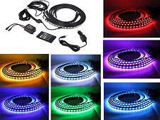 Car Interior Neon Light LED Strip w/ Sound Active Wireless Remote Multi-Color