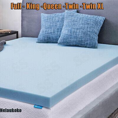 2/'/'//3/'/' Comfort Gel Memory Foam Mattress Topper-Twin Full Queen King NEW !!