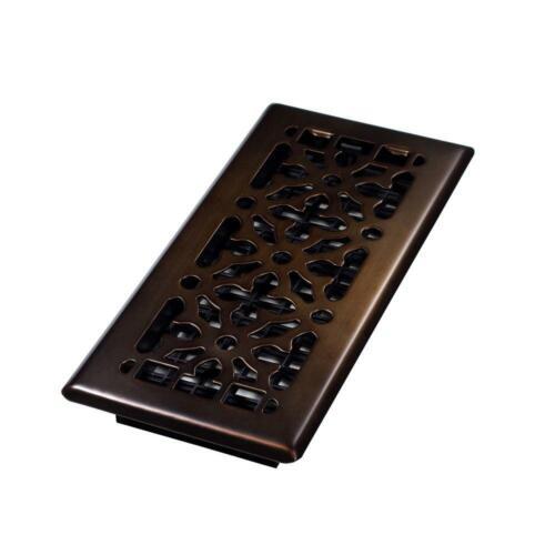 X 10 In Steel Gothic Design Floor Register 4 In Rubbed Bronze