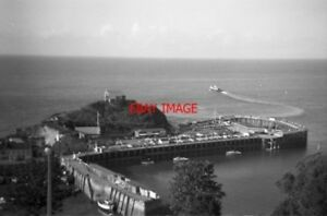 PHOTO-1969-ILFRACOMBE-DEVON-HARBOUR-AND-CHAPEL-ON-THE-HEADLAND-VIEWED-FROM-HILL