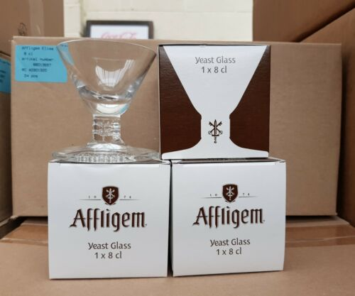 Joblot 24 x AFFLIGEM BELGIUM 8CL YEAST GLASSES NEW AND ALL INDIVIDUALLY BOXED