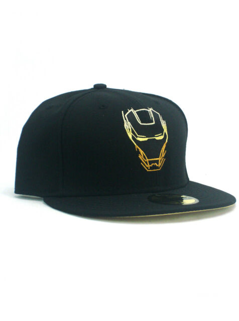 f4901b85c1071d New Era Stealth Iron Man 59fifty Custom Fitted Hat Size 7 3/4 Marvel Black