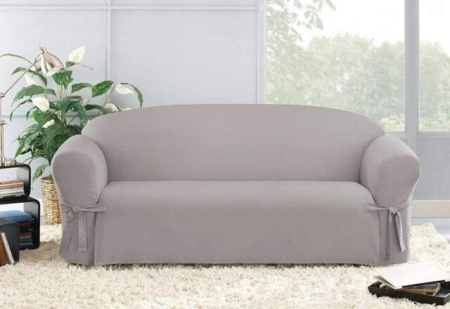 Fit Soft Suede One Piece Sofa Slipcover