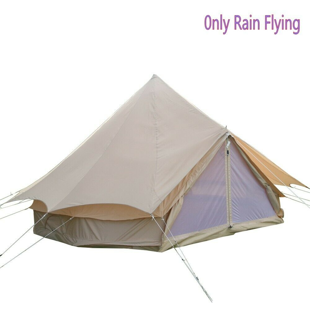3M 4M 5M 6M Bell Tent Predector Rain Fly Roof Tarp Waterproof Oxford Shelter US