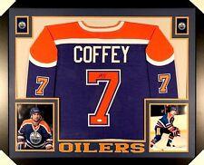 Paul Coffey Signed Oilers 35x43 Custom Framed Jersey (JSA) NHL Hall of Fame 2004