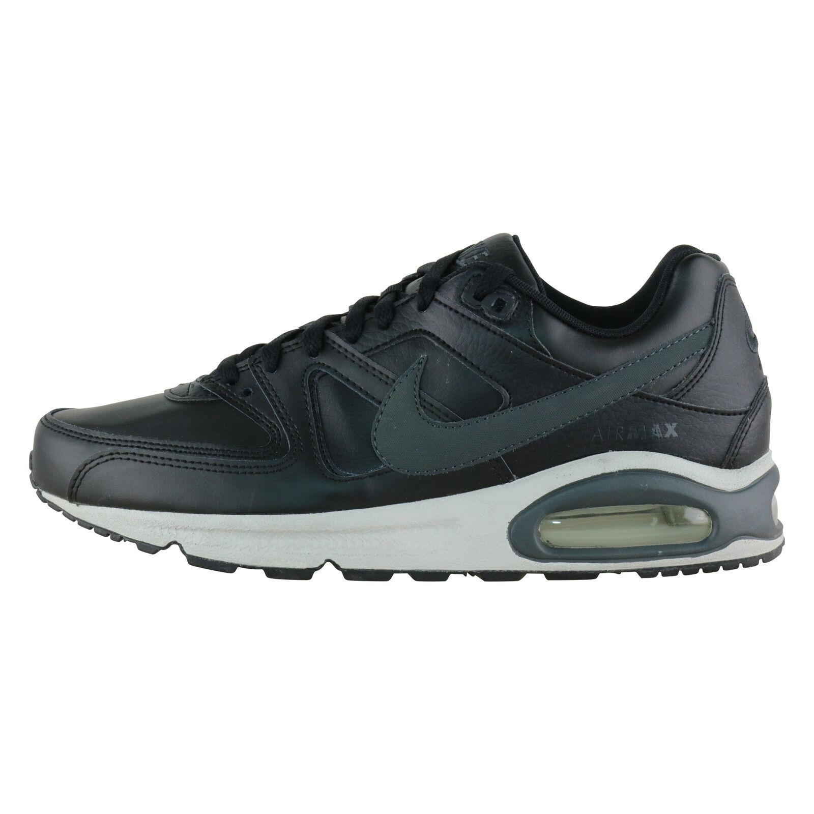 Nike Air Max Command Leather Herren Sneaker schwarz Leder SPORTSCHUHE Laufschuhe 45.5