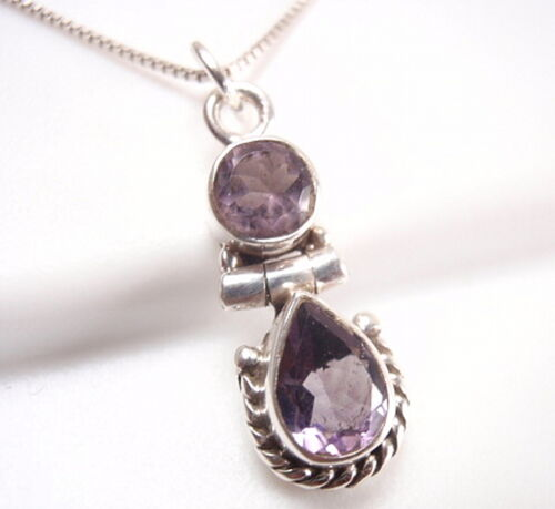 Très petites facettes améthyste Pendentif Argent Sterling 925 Corona Sun Jewelry