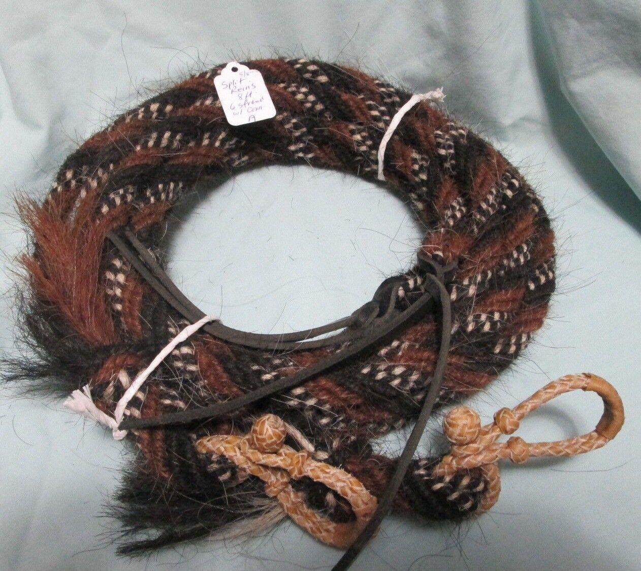 Mane Split de pelo de de de caballo riendas W Rawhide Conectores -- 8 pies, 5 8  de diámetro, un patrón 3c9e14