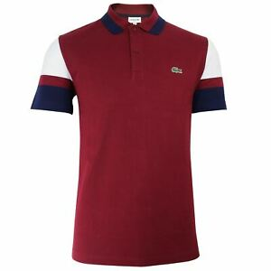 LACOSTE-MENS-BURGUNDY-POLO-SHIRT-WITH-NAVY-AND-WHITE-SLEEVES